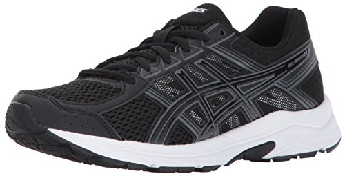 ASICS Women's Gel-Contend 4 Running Shoe, Black/Black/Carbon, 5.5 Medium US