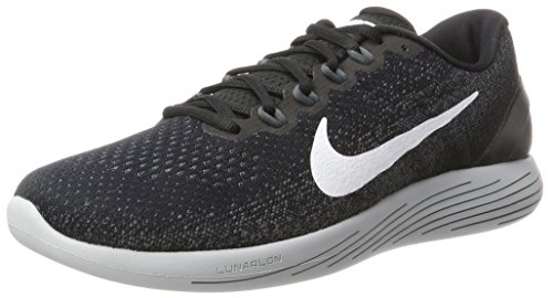 Nike Men's Lunarglide 9 Running Shoe Black/White/Dark Grey/Wolf Grey Size 8 M US