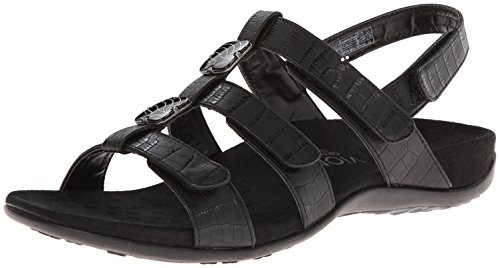 Vionic with Orthaheel Amber Women's Sandal, 8 B(M) US