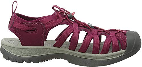 KEEN Womens Whisper Sandal,Beet Red/Honeysuckle,11 M US
