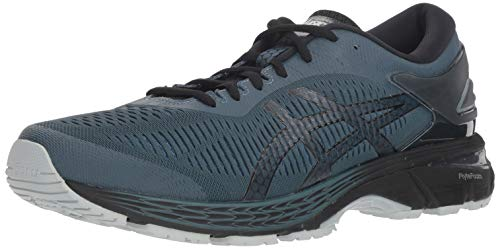 ASICS Men's Gel Kayano 25 Running Shoes, 7M, IRONCLADBlack