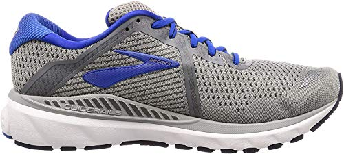 Brooks Mens Adrenaline GTS 20 Running Shoe - Grey/Blue/Navy - D - 7.0