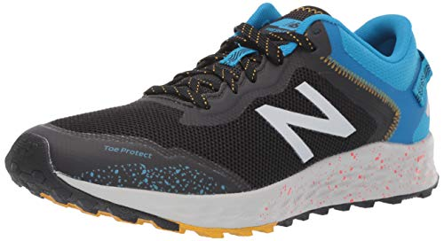 New Balance Men's Fresh Foam Arishi Trail V1 Running Shoe, Black/Vision Blue, 7 M US