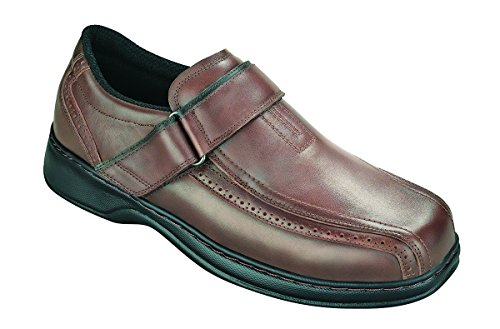 Orthofeet Plantar Fasciitis Pain Relief. Extended Widths. Orthopedic Diabetic Arthritis Men's Shoes, Lincoln Center Brown