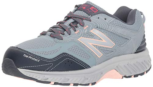 New Balance Women's 510 V4 Trail Running Shoe, Cyclone/Thunder/Himalayan Pink, 9.5 M US