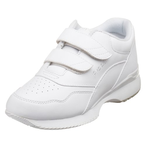 Propet Women's Tour Walker Strap Sneaker,White,8.5 W (US Women's 8.5 D)