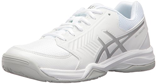 ASICS Women's Gel-Dedicate 5 Tennis Shoe, White/Silver, 9.5 M US