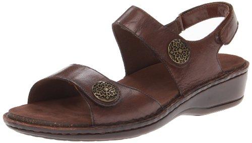 Aravon Candace 3 Strap Sandal, Size: 8 Width: 2E Color: Brown