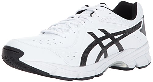 ASICS Men's Gel-195 TR Cross-Trainer-Shoes, White/Black/Silver, 9.5 2E US