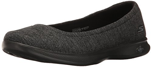 Skechers Performance Women's Go Step Lite-Evoke Walking Shoe,Black/Gray,8.5 M US