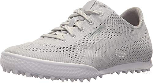 PUMA Golf Women's Monolite Cat Woven Golf Shoe, Glacier Gray/Glacier Gray, 9 Medium US