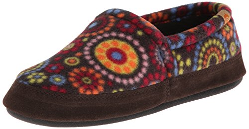 Acorn Women's Moc Slipper, Chocolate Dots, 5-6