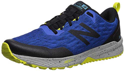 New Balance Men's Nitrel V3 Trail Running Shoe, Cobalt/Black, 7 M US