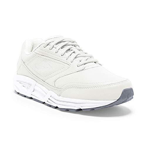 Brooks Women's Addiction, White, 7 EE - Extra Wide