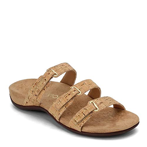 Vionic Women's, Aubrey Slide Sandal Cork 5 M