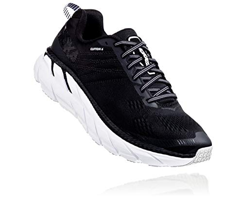 HOKA ONE ONE Womens Clifton 6 Black/White Running Shoe - 7