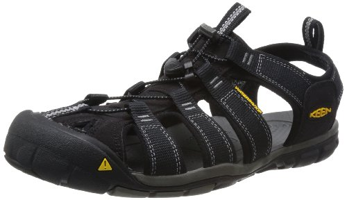 KEEN Men's Clearwater CNX Sandal,Black/Gargoyle,13 M US