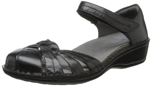 Aravon Women's Clarissa Fisherman Sandal,Black,9 B US
