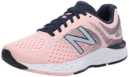 New Balance Women's 680 V6 Running Shoe, Peach Soda/Ginger Pink/Natural Indigo, 9.5 M US