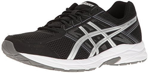 ASICS Men's Gel-Contend 4 Running Shoe, Black/Silver/Carbon, 12 M US