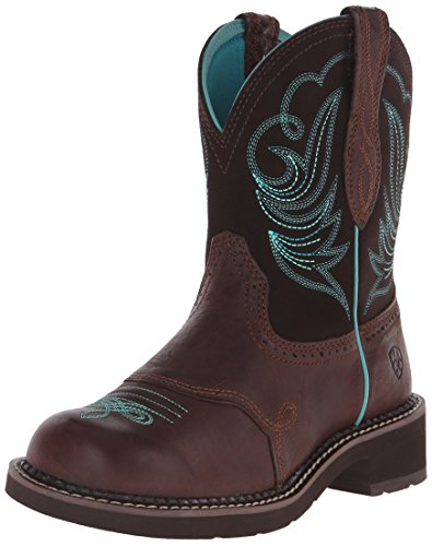 Ariat Women's Fatbaby Heritage Dapper Western Cowboy Boot, Royal Chocolate/Fudge, 9 M US