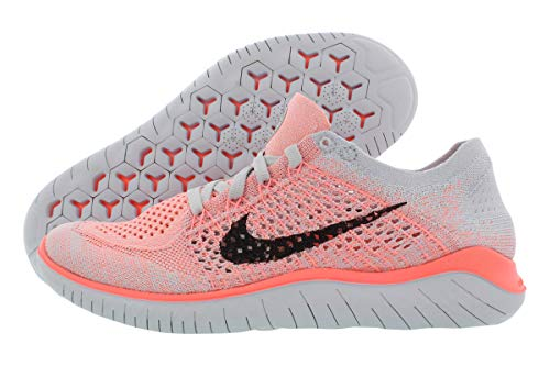 Nike Womens Free Rn Flyknit 2018 Low Top Lace Up Running, Orange, Size 5.5