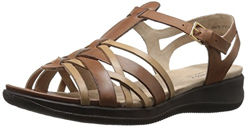 SoftWalk Women's TAFT Wedge Sandal, Natural/Tan, 5 M US