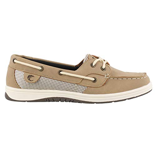 Island Surf Women's Co, Sanibel Boat Shoes Parchment 9 M