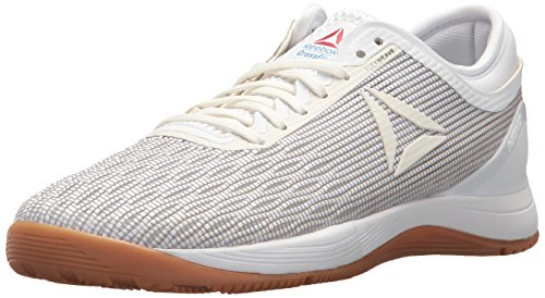 Reebok Women's Crossfit Nano 8.0 Flexweave Workout Joggers, White/Classic White/Excellent Red/Blue/Gum, 10 M US