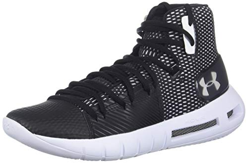 Under Armour Women's Drive 5 After Burn Basketball Shoe, Black (001)/White, 10