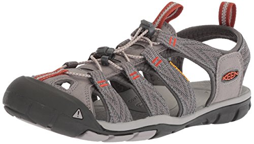 KEEN Men's Clearwater CNX-M Sandal, Grey Flannel/Potters Clay, 9 M US