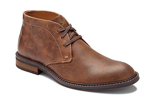 Vionic Men's Bowery Chase Chukka Boot - Mens Lace up Boot with Concealed Orthotic Arch Support Brown 7 M US