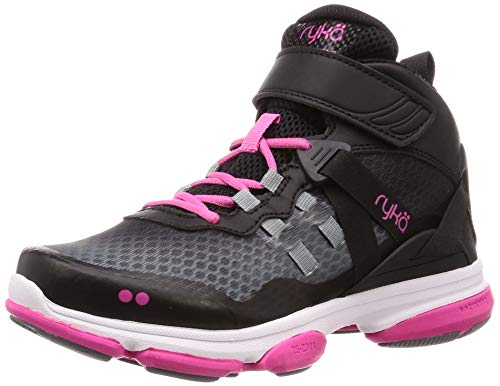 Ryka Women's Devotion XT Mid Cross Trainer, Black/Pink, 7 W US