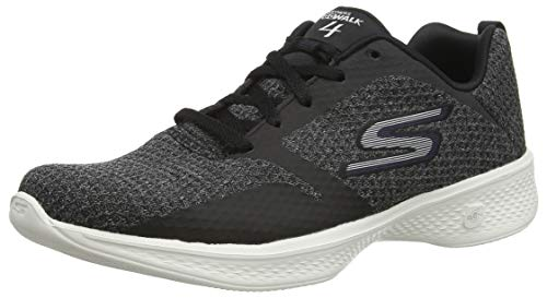 Skechers Women's Low-Top Trainers, Black Black Purple Bkpr, 36