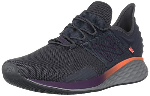 New Balance Men's Fresh Foam Roav V1 Sneaker, Magnet/Dark Currant, 17 W US