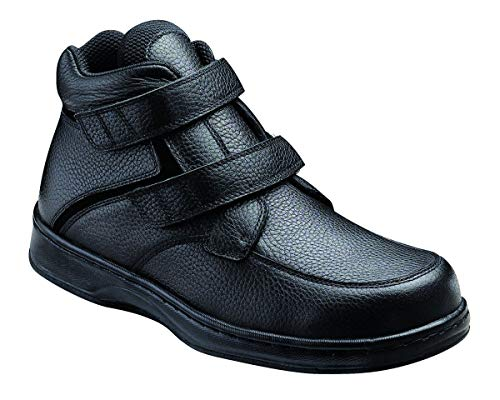 Orthofeet Plantar Fasciitis Pain Relief. Extended Widths. Arch Support Orthopedic Diabetic Men's Boots Glacier Gorge Black