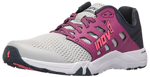 Inov-8 Women's All Train 215 Cross-Trainer Shoe, Light Grey/Purple/Navy, 8.5 D US