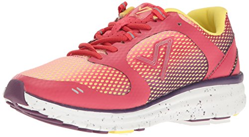 Vionic Women's VIO-NRG Elation 1.0 Lace Up Sneaker - Ladies Walking Shoes with Concealed Orthotic Arch Support Pink Ombre 6.5 Medium US