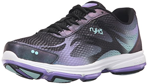 Ryka Women's Devotion Plus 2 Walking Shoe, Black/Purple, 9 W US