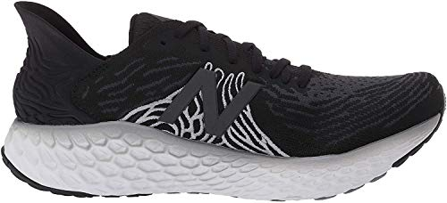 New Balance Men's Fresh Foam 1080 V10 Running Shoe, Black/Steel, 7 M US