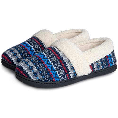 RockDove Women's Nordic Slipper with Memory Foam, Size 8 US Women, Polaris Blue