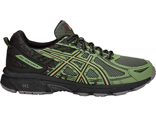 ASICS Men's Gel-Venture 6 Running Shoes, 7M, Cedar Green/Lava Orange
