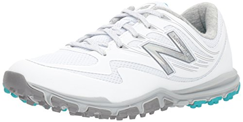 New Balance Women's Minimus Sport Golf Shoe, White, 9 M