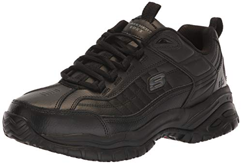 Skechers for Work Men's Soft Stride Galley Sneaker,Black,13 W US