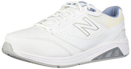 New Balance Women's Womens 928v3 Walking Shoe Walking Shoe, White/Blue, 13 B US