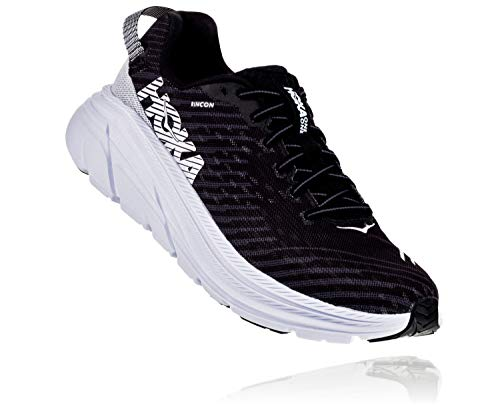 HOKA ONE ONE Rincon Men's 6 Running Shoes, Black/White, 9.5 US