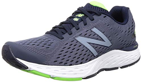 New Balance Men's 680 V6 Running Shoe, Pigment/RGB Green, 7 M US