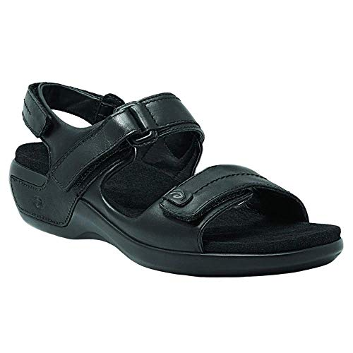 Aravon Womens Katy,Black Leather,10 W (D) US