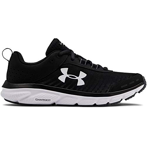Under Armour Women's Charged Assert 8 Running Shoe, Black (001)/White, 8.5
