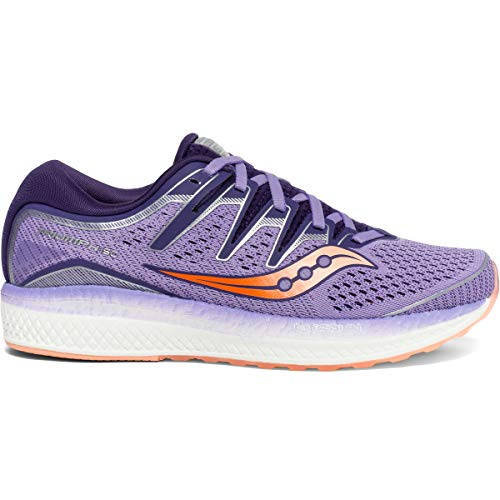 Saucony Women's Triumph ISO 5 Running Shoe, Purple/Peach, 9.5 M US